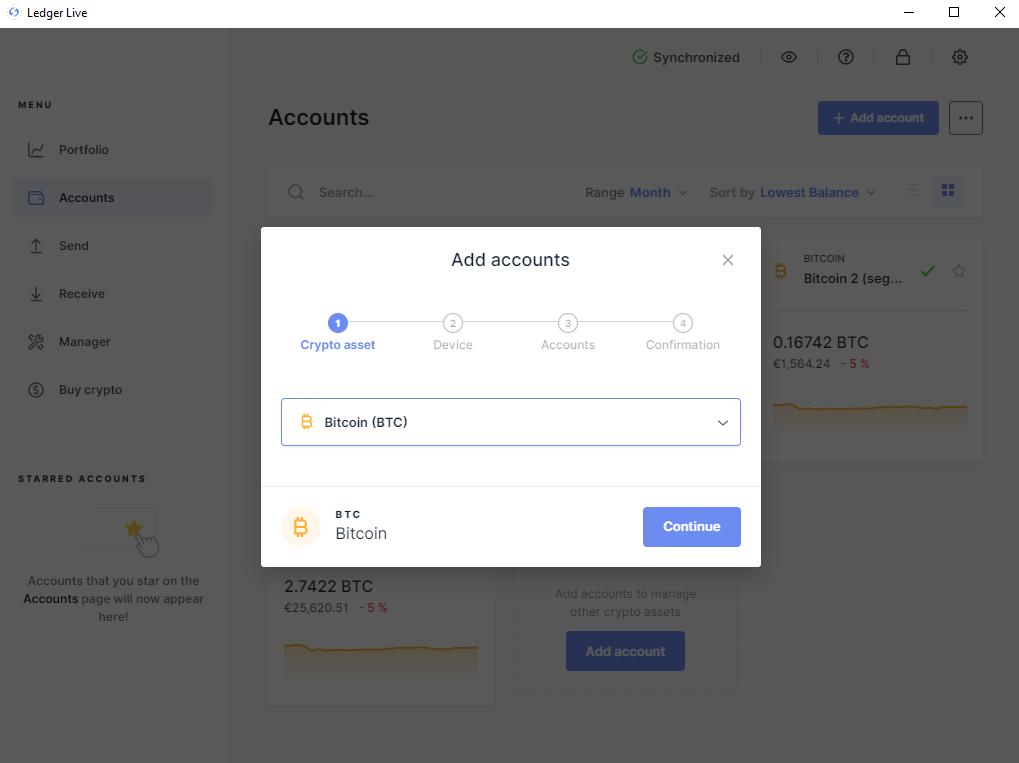 Bitcoin account toevoegen