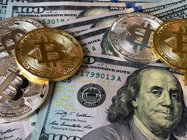 Amerikaanse dollars en Bitcoin
